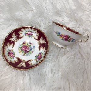 Vintage Royal Grafton Teacup & Saucer Floral